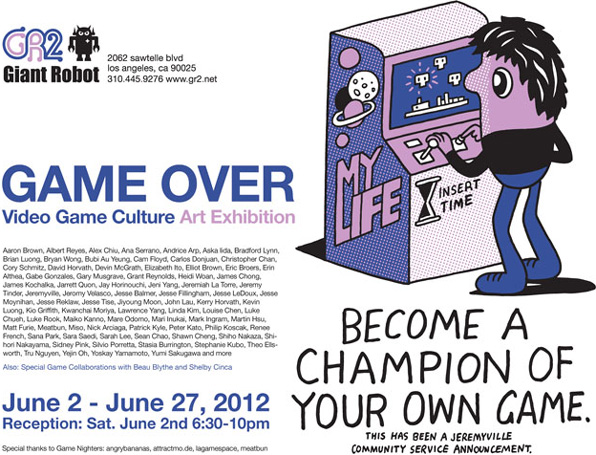 Game Over Art show at GR2